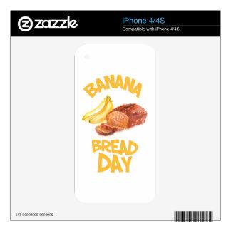 23rd February - Banana Bread Day iPhone 4 Skins
