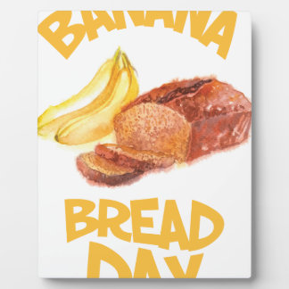23rd February - Banana Bread Day Plaque