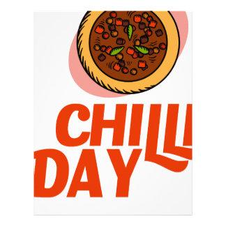 23rd February - Chilli Day - Appreciation Day Letterhead