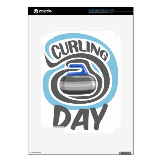 23rd February - Curling Is Cool Day Decal For The iPad 2