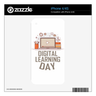 23rd February - Digital Learning Day Decal For iPhone 4