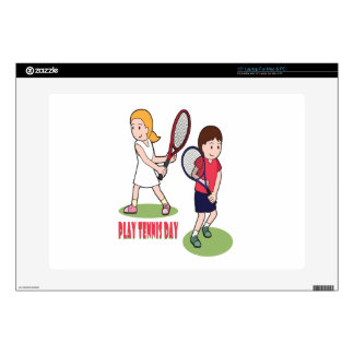 "23rd February - Play Tennis Day - Appreciation Day 15"" Laptop Skin"