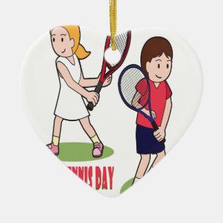 23rd February - Play Tennis Day - Appreciation Day Ceramic Ornament
