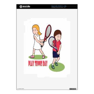 23rd February - Play Tennis Day - Appreciation Day iPad 2 Skin