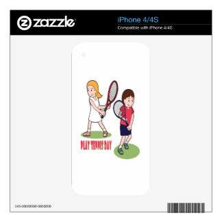 23rd February - Play Tennis Day - Appreciation Day iPhone 4 Skin