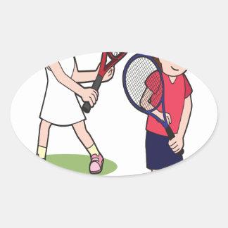 23rd February - Play Tennis Day - Appreciation Day Oval Sticker