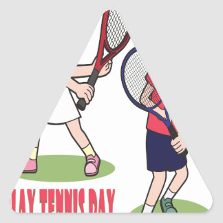 23rd February - Play Tennis Day - Appreciation Day Triangle Sticker