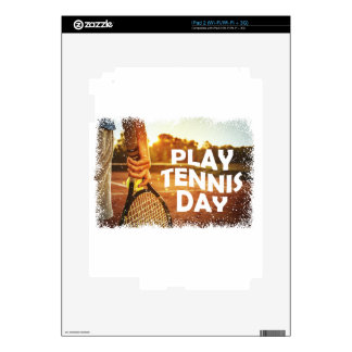 23rd February - Play Tennis Day Decals For iPad 2