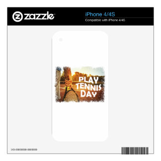 23rd February - Play Tennis Day iPhone 4S Decals