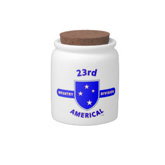 """23RD INFANTRY DIVISION """"AMERICAL"""" PRODUCTS CANDY JAR"""