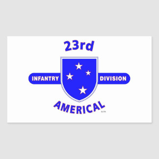"""23RD INFANTRY DIVISION """"AMERICAL"""" PRODUCTS STICKERS"""