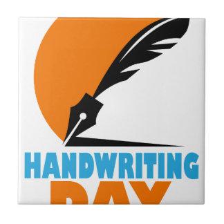 23rd January - Handwriting Day Ceramic Tile