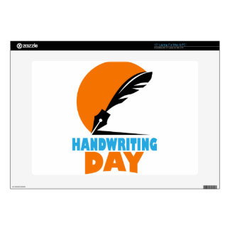 23rd January - Handwriting Day Skins For Laptops