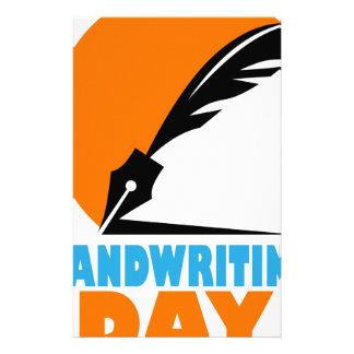 23rd January - Handwriting Day Stationery