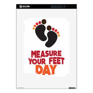 23rd January - Measure Your Feet Day iPad 2 Decal