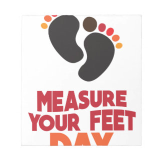 23rd January - Measure Your Feet Day Notepad