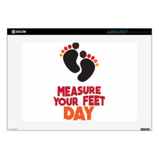 "23rd January - Measure Your Feet Day Skins For 15"" Laptops"