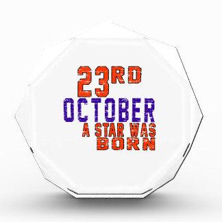 23rd October a star was born Acrylic Award