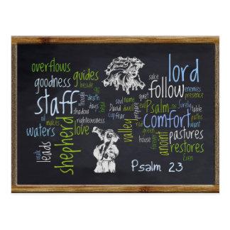 23rd Psalm Chalkboard 1 Postcard