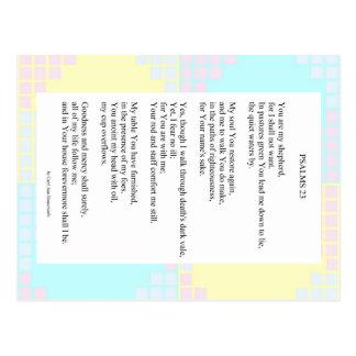 23rd Psalm Pastel Quilt Postcard