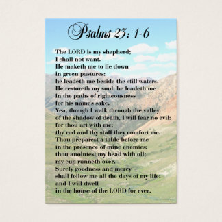 23rd Psalm Personal Cards