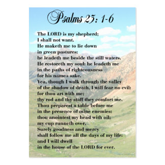 23rd Psalm Personal Cards Large Business Card