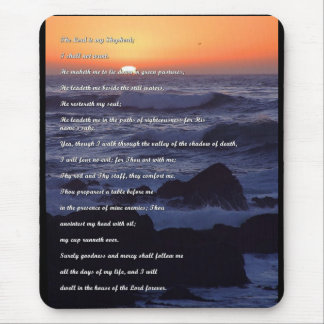 23rd psalm Shepherds Prayer Mouse Pad