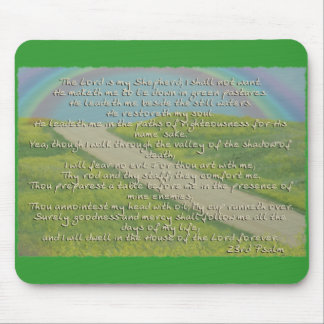 23RD PSALM THE LORD IS MY SHEPHERD BIBLE SCRIPTURE MOUSE PAD