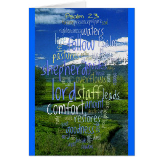 23rd Psalm Valley View Greeting Cards