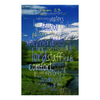 23rd Psalm Valley View Poster