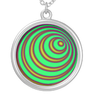 23rd Spiral Round Pendant Necklace