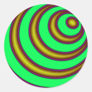 23rd Spiral Round Stickers