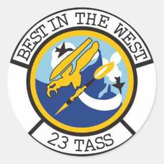 23rd TASS Classic Round Sticker