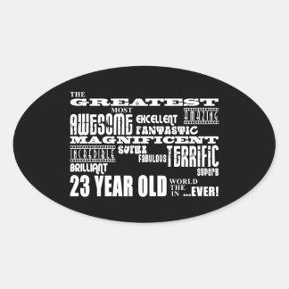 23ro Años más grandes de la fiesta de cumpleaños Pegatinas De Ovaladas