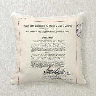23ro constitución de los E.E.U.U. de la enmienda d Cojin