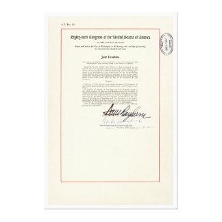 23ro constitución de los E.E.U.U. de la enmienda d Impresion De Lienzo