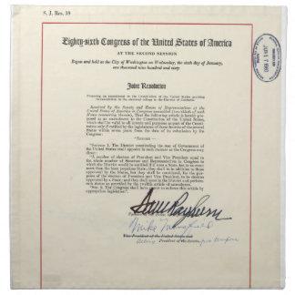 23ro constitución de los E.E.U.U. de la enmienda d Servilletas