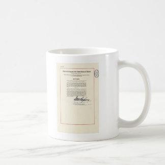 23ro constitución de los E.E.U.U. de la enmienda d Tazas De Café