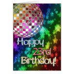 23ro cumpleaños con la bola de discoteca y el arco felicitación