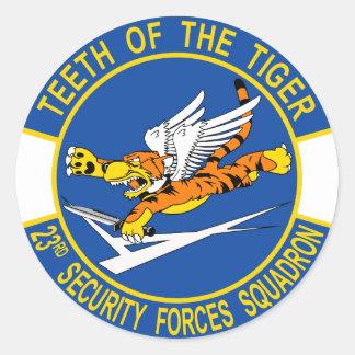 23ro Escuadrilla de las fuerzas de seguridad Pegatina Redonda