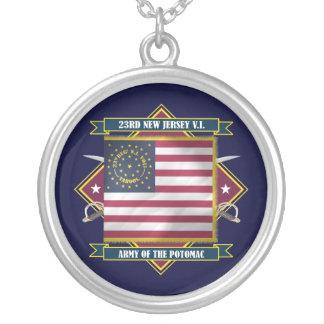 23ro Infantería voluntaria de New Jersey Collar Plateado