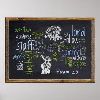 23ro Pizarra 1 del salmo Póster