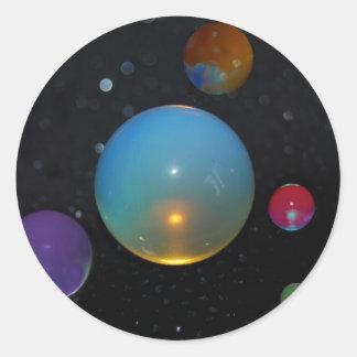 23ro Universo Etiqueta Redonda