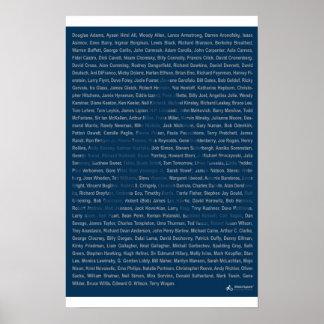 23x35 impresión - rollo ateo de la ropa - azul poster