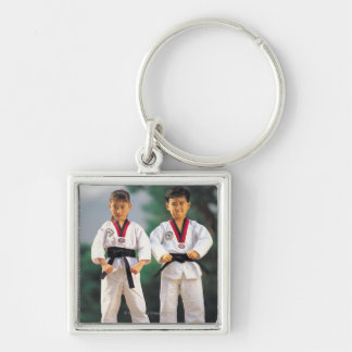 24095171 Silver-Colored SQUARE KEYCHAIN