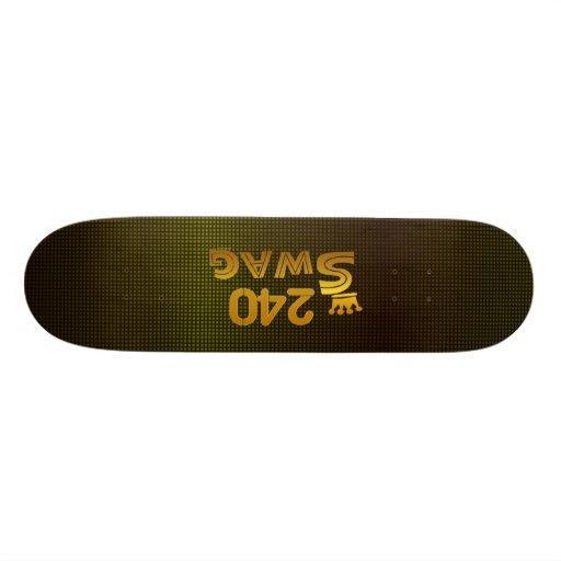 240 Area Code Swag Skate Decks