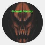 240-Dank 066 6, Kousin Freaky Round Sticker
