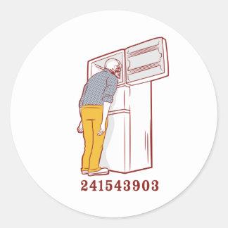 241543903 head freezer humorous tshirt classic round sticker
