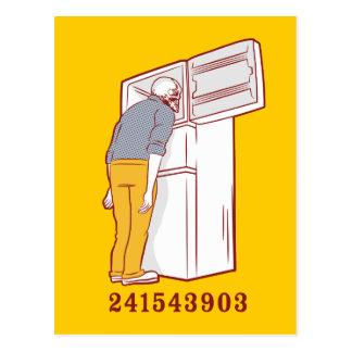 241543903 head freezer humorous tshirt postcard
