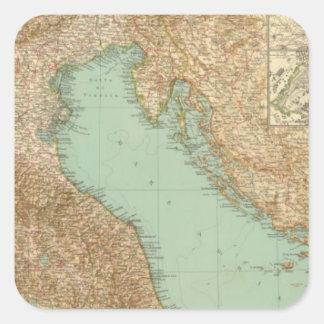 2426 Italia del norte Pegatinas Cuadradases